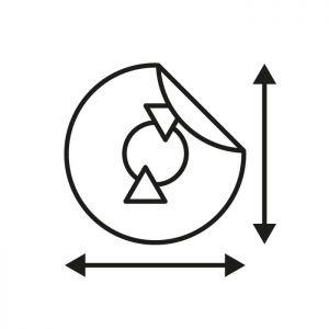 Maatwerk-sticker