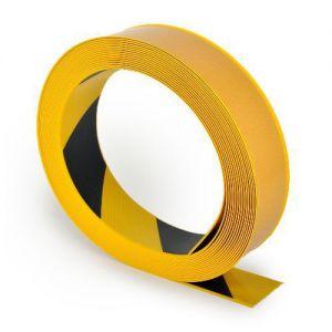Vloertape geel zwart gestreep